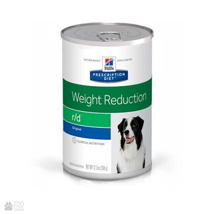 Консервированный лечебный корм для собак с избыточным весом Хиллс Hill's Prescription Diet r/d Weight Reduction
