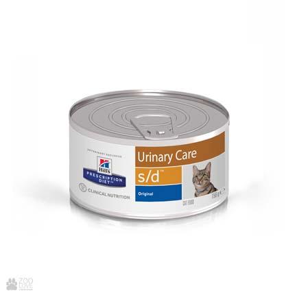 Лечебные консервы Хиллс для кошек с заболеваниями мочевыводящих путей Hill's Prescription Diet s/d Urinary Care Chicken