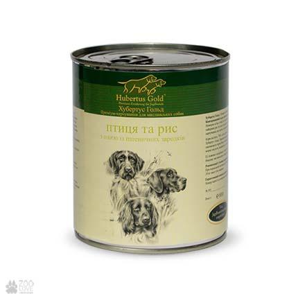 консервы для собак Hubertus Gold с птицей и рисом