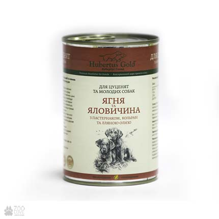 консервы для собак Hubertus Gold с ягненком и говядиной