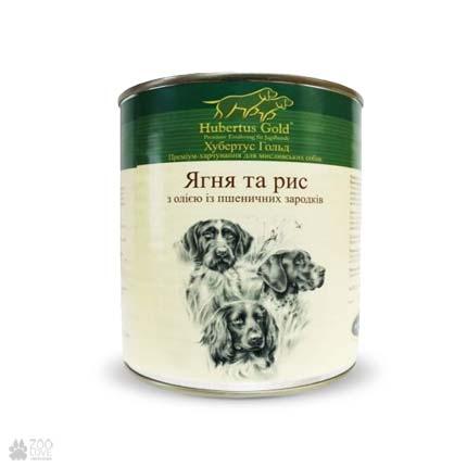 Hubertus Gold с ягненком и рисом, консервы для собак
