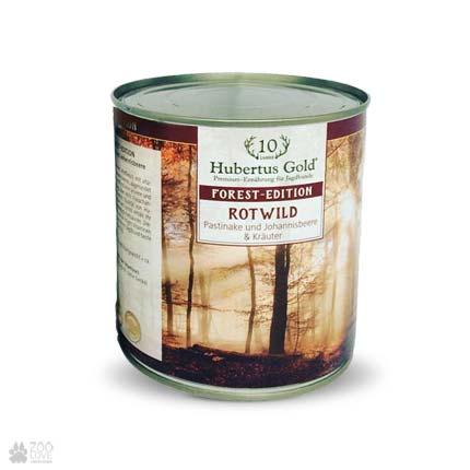 Hubertus Gold с олениной, пастернаком, смородиной, консервы для собак