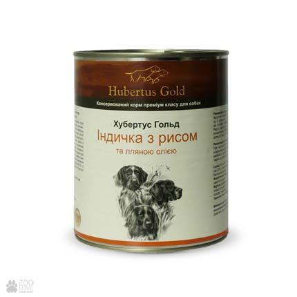 консервы для собак Hubertus Gold с индейкой и рисом
