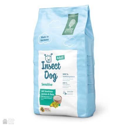 Green Petfood InsectDog Adult Sensitive, сухой корм для собак с чувствительным пищеварением