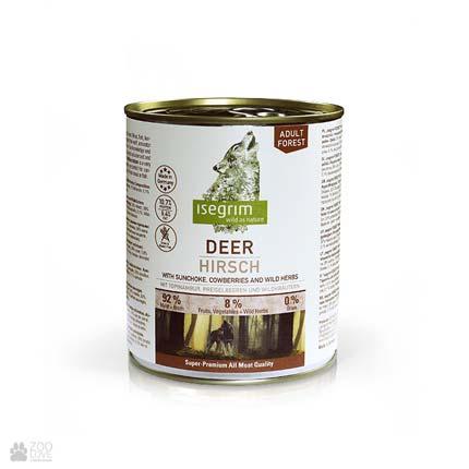Isegrim Deer Adult Forest, консервы для собак с олениной