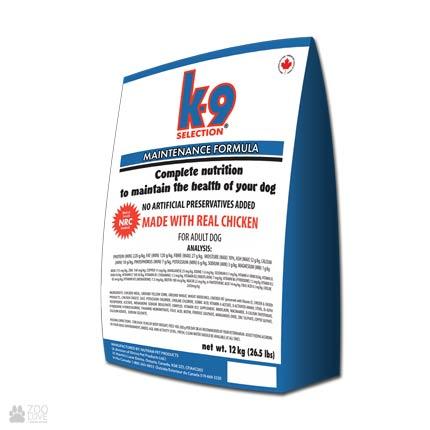 корм для собак средних пород K9 Selection Maintenance Formula