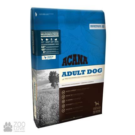Фото упаковки корма для собак любых пород Acana Adult Dog 29/17