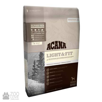 Фото упаковки корма для собак с избыточным весом Acana Light & Fit 35/11