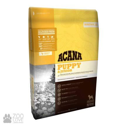 Фото упаковки корма для щенков средних пород Acana Puppy and Junior 33/20