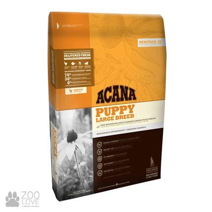 Фото упаковки корма для щенков крупных пород Acana Puppy Large Breed