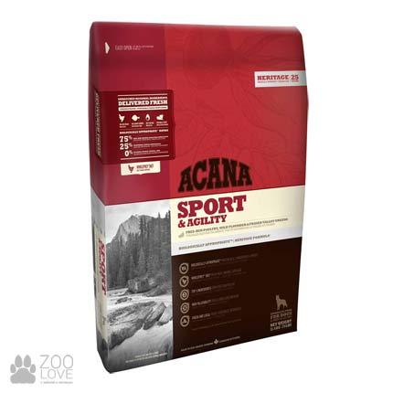 Фото упаковки корма для активных собак Acana Sport & Agility 35/22