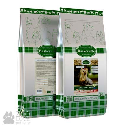 Фото корма для собак мелких пород Baskerville Adult Small Breed