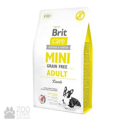 Фото упаковки сухого корма для собак Brit Care Adult Mini 2 кг
