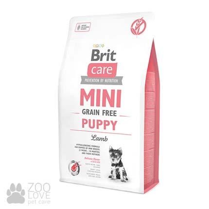 Упаковка корма Brit Care Grain Free Mini Puppy 2 кг Lamb, для щенков малых пород