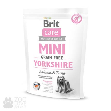 Сухой корм Brit Care Grain Free Mini Yorkshire 0,4 кг, для собак малых пород