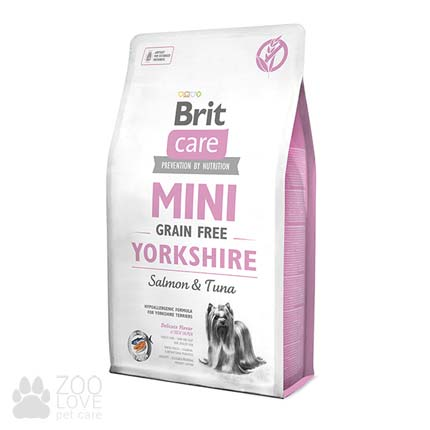 Сухой корм Brit Care Grain Free Mini Yorkshire 2 кг, для собак малых пород