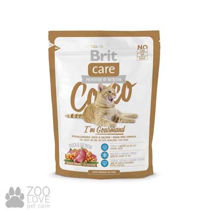 Фото корма для привередливых кошек с чувствительным пищеварением Brit Care Cocco I am Gourmand 0,4 кг