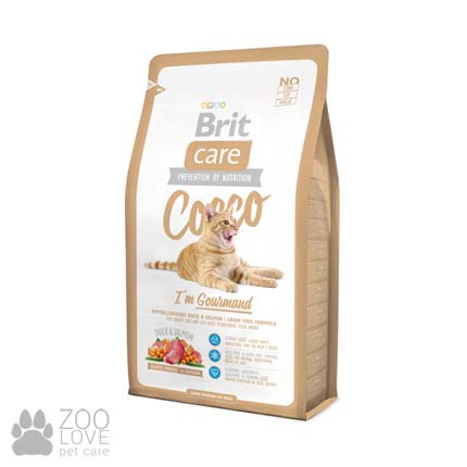 Brit Care Cocco I am Gourmand 2 кг, корм для привередливых кошек