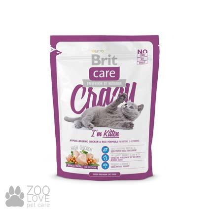 Фото гипоаллергенного корма для котят Brit Care Crazy I am Kitten 0,4 кг