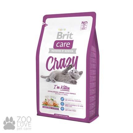 Фото гипоаллергенного корма для котят Brit Care Crazy I am Kitten 2 кг
