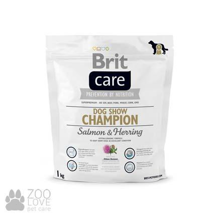 Фото упаковки корма для собак сухого Brit Care Dog Show Champion 1 кг