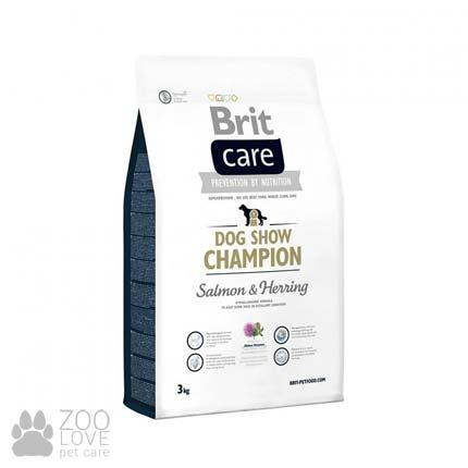 Фото упаковки корма для собак сухого Brit Care Dog Show Champion 12 кг