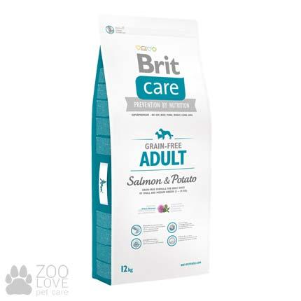 Фото упаковки корма для собак средних пород Brit Care Grain Free Adult Salmon & Potato 12 кг
