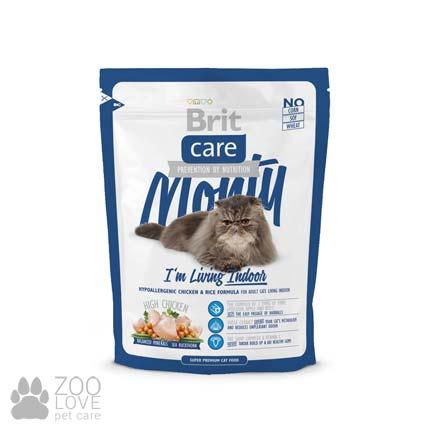 Фото корма для кошек, живущих в помещении, Brit Care Monty I am Living Indoor 0,4 кг