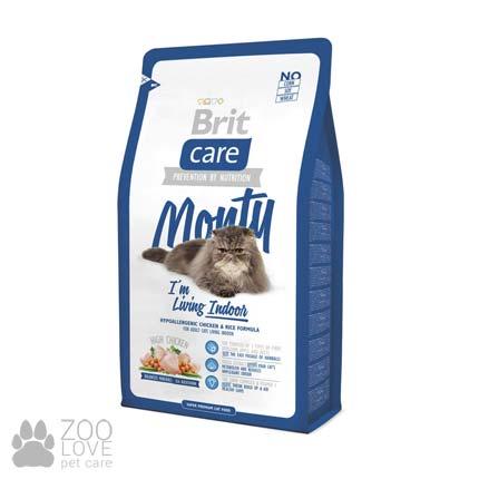 Фото корма для кошек, живущих в помещении, Brit Care Monty I am Living Indoor 2 кг