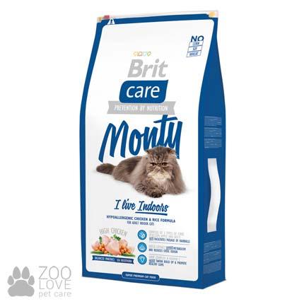 Фото корма для кошек, живущих в помещении, Brit Care Monty I am Living Indoor 7 кг