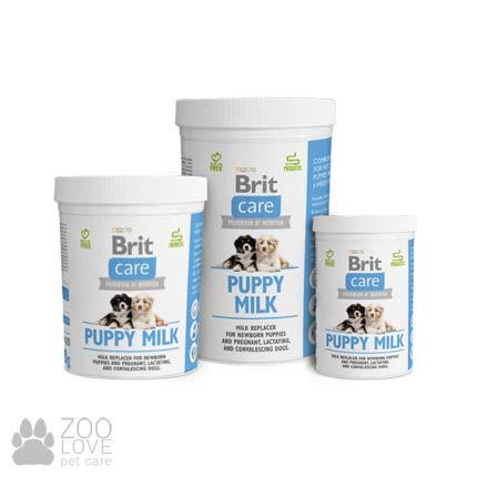 Изображение упаковки сухого молока для щенков Brit Care Puppy Milk