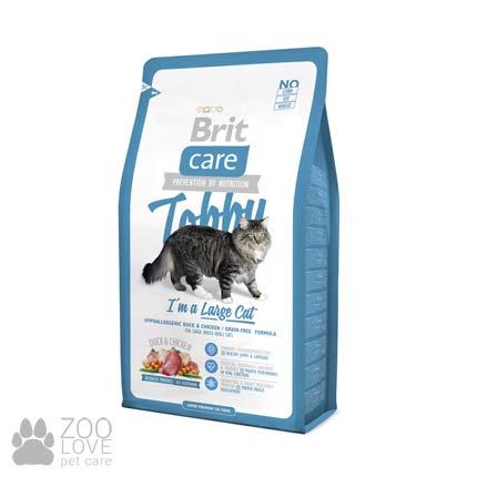 Фото корма для кошек крупных пород Brit Care Tobby I am a Large Cat 2 кг