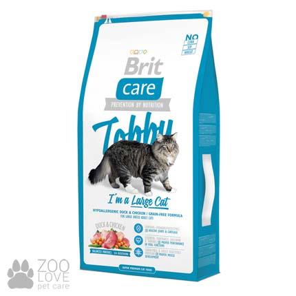 Фото корма для кошек крупных пород Brit Care Tobby I am a Large Cat 7 кг