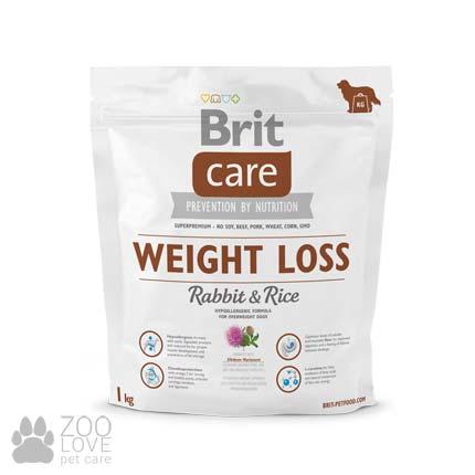 Фото упаковки корма для собак с лишним весом Brit Care Weight Loss Rabbit & Rice 1 кг