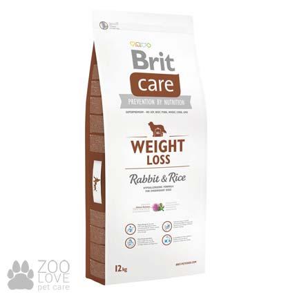 Фото упаковки корма для собак с лишним весом Brit Care Weight Loss Rabbit & Rice 12 кг