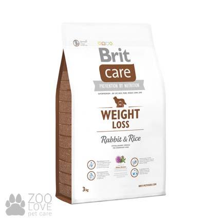 Фото упаковки корма для собак с лишним весом Brit Care Weight Loss Rabbit & Rice 3 кг