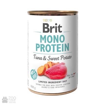 Корм для собак Brit Mono Protein Tuna & Sweet Potato Моно протеин с тунцом и сладким картофелем, 400 грамм