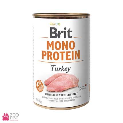 Корм для собак Brit Mono Protein Turkey Моно протеин с мясом индейки, 400 грамм
