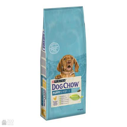 Упаковка корма для щенков с мясом курицы Dog Chow Puppy Chicken, 14 кг (дизайн с 2018 года)