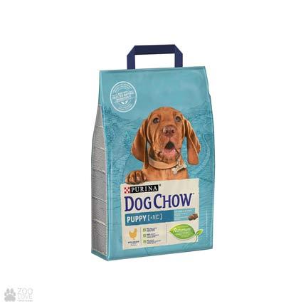 Упаковка корма для щенков с мясом курицы Dog Chow Puppy Chicken, 2,5 кг (дизайн с 2018 года)