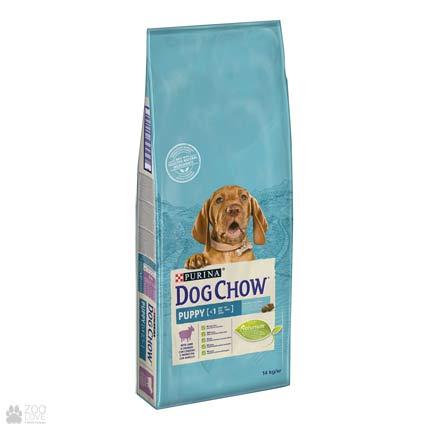 Упаковка сухого корма для щенков с ягненком Dog Chow 14 кг (дизайн 2018)