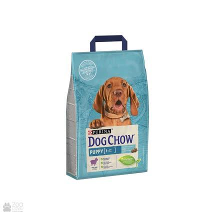 Упаковка сухого корма для щенков с ягненком Dog Chow 2,5 кг (дизайн 2018)