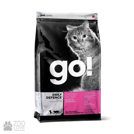 Корм для кошек всех пород GO! DAILY DEFENCE Chicken Cat Recipe