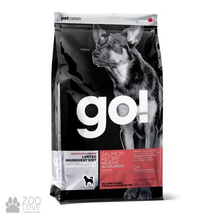 Корм для взрослых собак и щенков GO! LID Salmon Recipe