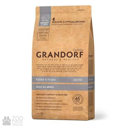 Фото упаковки корма для собак всех пород Grandorf Rabbit & Potato Adult All Breeds, 12 кг