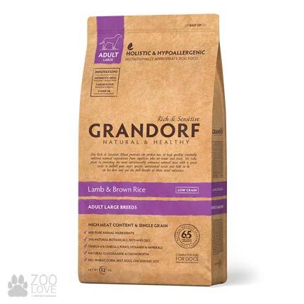 Фото упаковки сухого корма для щенков всех пород Grandorf Lamb & Rice Adult Large Breed