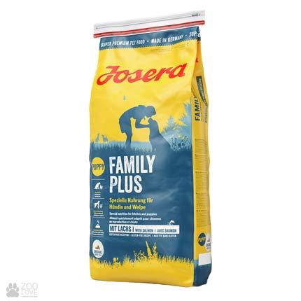 Фото упаковки сухого корма для собак Josera Family Plus 15 кг