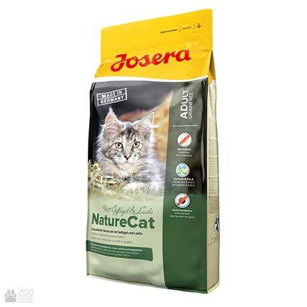 Фото упаковки беззернового корма для котов Josera NatureCat 10 кг