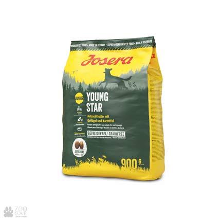 Фото упаковки сухого корма для щенков Josera Young Star 0.9 кг