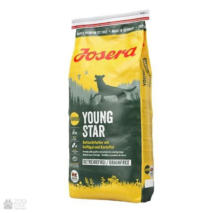 Фото упаковки сухого корма для щенков Josera Young Star 15 кг